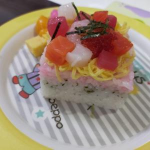 【幼児食レシピ】菱餅風押し寿司【ひな祭り】