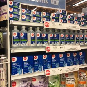 小麦粉とLysol(除菌ワイプ)が買えた場所 in Toronto