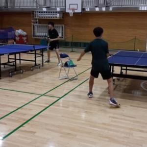 【卓球】20201024-ゲーム練習 & 11月の練習予定表