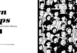 『Open Peeps』無料で個人・商用利用可能な人物イラスト素材ライブラリ