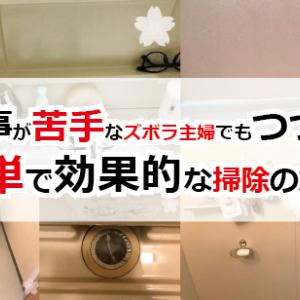 家事が苦手なズボラ主婦でもつづく簡単で効果的な掃除の方法
