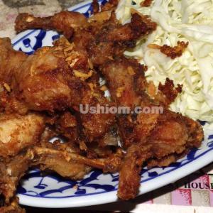 《田の地鶏》タイではおいしいカエルを食べなさい