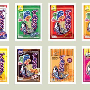 タイのおつまみスナック菓子タローの正しい食べ方