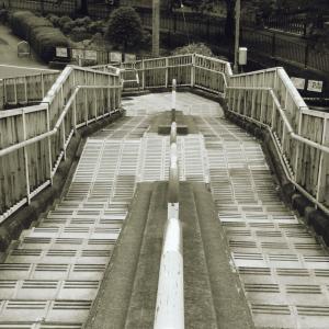 特徴あり過ぎの歩道橋