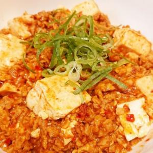 昼の偽炒飯でオートミールに代用挽肉への可能性を見た俺は、、、晩飯に麻婆豆腐を作ったでござる!の巻