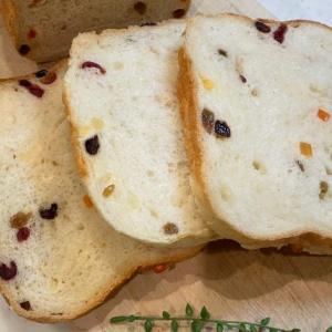 HBで作る彩り綺麗なドライフルーツの食パン
