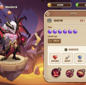 Vampire dari Abbys, Waldeck. Idle Heroes