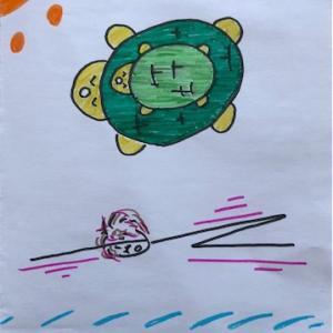 マイ ヨガ 15 Half Tortoise Pose (半分のカメのポーズ)