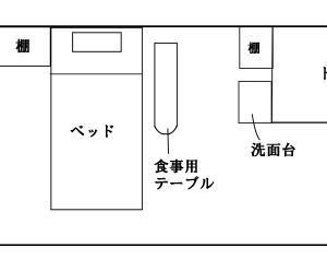 9/1~9/12の退院まで滞在した個室