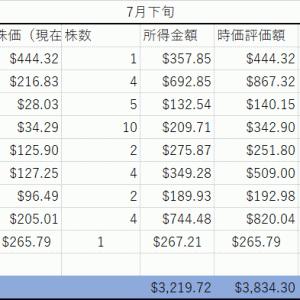 【7月末】大学生投資家の現在の成績