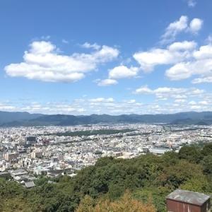 【将軍塚青龍殿】の大舞台から京都の大パノラマを堪能。