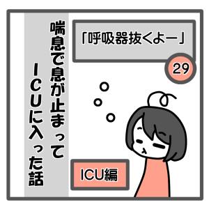 29、「呼吸器抜くよー」【喘息でICUに入った話】