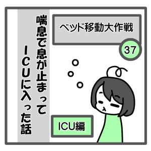 37、ベッド移動大作戦【喘息でICUに入った話】
