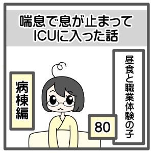 80、昼食と職業体験の子【喘息でICUに入った話】