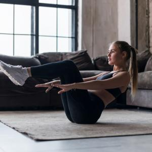 Beginner workout at home for woman