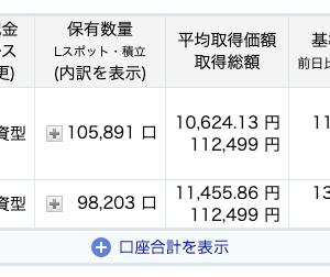 投資信託積立日記【2020年12月分】