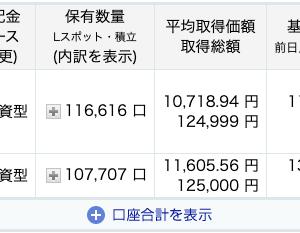 投資信託積立日記【2021年1月分】