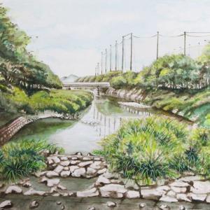 2020.05 瑞梅寺川より筑肥線橋梁を望む(糸島市)