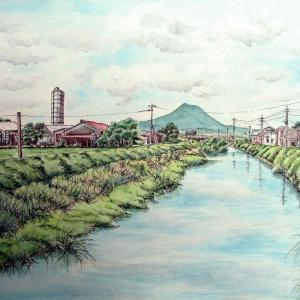 2020.09 雷山川より加也山を望む(糸島市・泊)