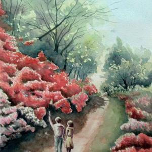 2021.04 浮岳幸花樹園の真紅の本キリシマツツジ(糸島市二丈)