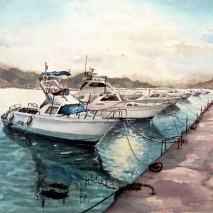 2021.05 岐志漁港のフィッシングボート(糸島市)