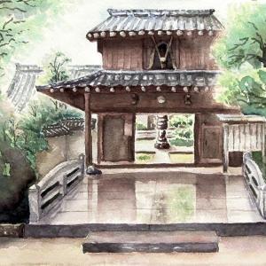 2021.06 梅雨時の歓喜山・荘厳禅寺山門(糸島市)