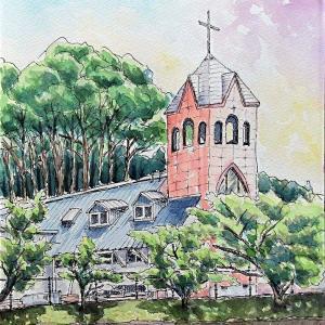 2021.07 カトリック糸島教会の朝(糸島市)