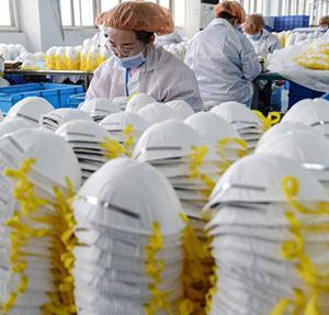 中国がフランスに100万枚のマスクを寄贈
