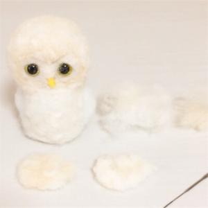 羊毛フェルト 夫婦フクロウ ウェルカムドールを作っています(02)