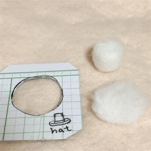 シルクハットの作り方(02)| 羊毛フェルト ウェディングドール