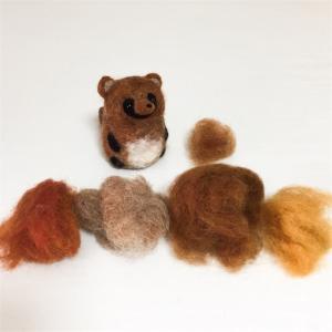 羊毛フェルトの混色 深みのある色合いに|動物人形を作りましょう