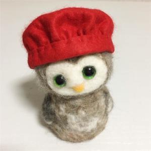 還暦祝いの帽子を作りました | 羊毛フェルト動物人形 個猫