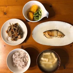 夕ごはんと手作りの即席中華スープ