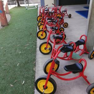 ダウン症と三輪車。