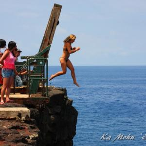 ハワイ島フォト日記 アメリカ最南端で度胸試し!恐れ入りました!