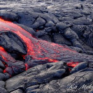 ハワイ島フォト日記 リクエストにお応えして 生なま熔岩流!