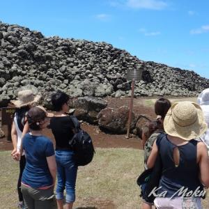 ハワイ島フォト日記 一番古い建造物は 戦の神殿であった