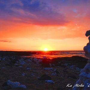 ハワイ島フォト日記 西海岸での夕陽は最高だね!