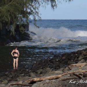 ハワイ島フォト日記 再開が待ち遠しい KOLEKOLE BEACH PARK