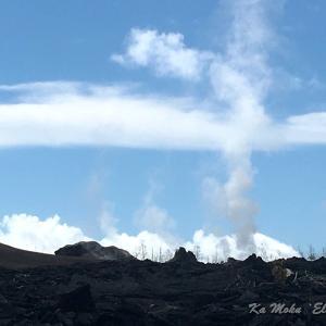 ハワイ島フォト日記 Leilaniの新火山の地底は活発です!!!