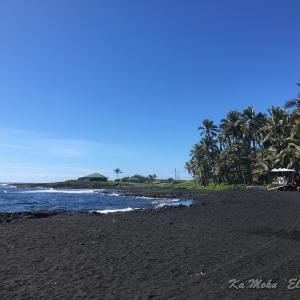 ハワイ島フォト日記 ブラックサンドビーチといえば。。。