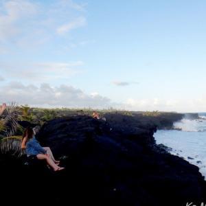 ハワイ島フォト日記 カラパナビーチは満潮干潮で まったく別の顔!