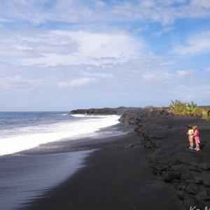 ハワイ島フォト日記 ハワイで一番美しい黒砂海岸!誕生!!!