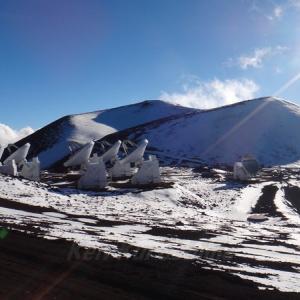 ハワイ島フォト日記 マウナケアの雪化粧だよ