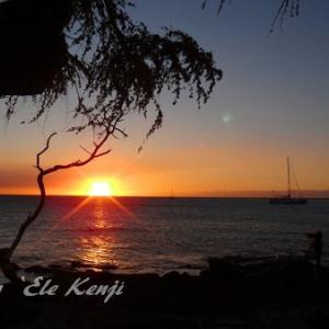 ハワイ島で美しい夕陽を見るには西海岸の北の方!これ常識だよね!