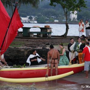 ココナッツアイランドで古典的な儀式を観た!卒業、禊、ハラ、レイ、宴、、。