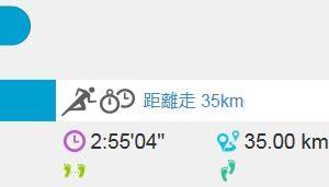 距離走 35km