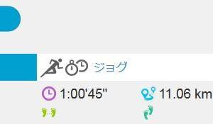 ジョグ 11km