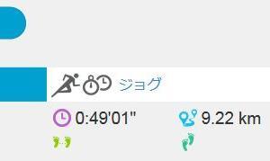 ジョグ 9km