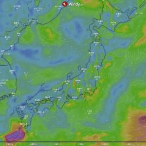 天候、風向きをチェックするサイト【Windy】